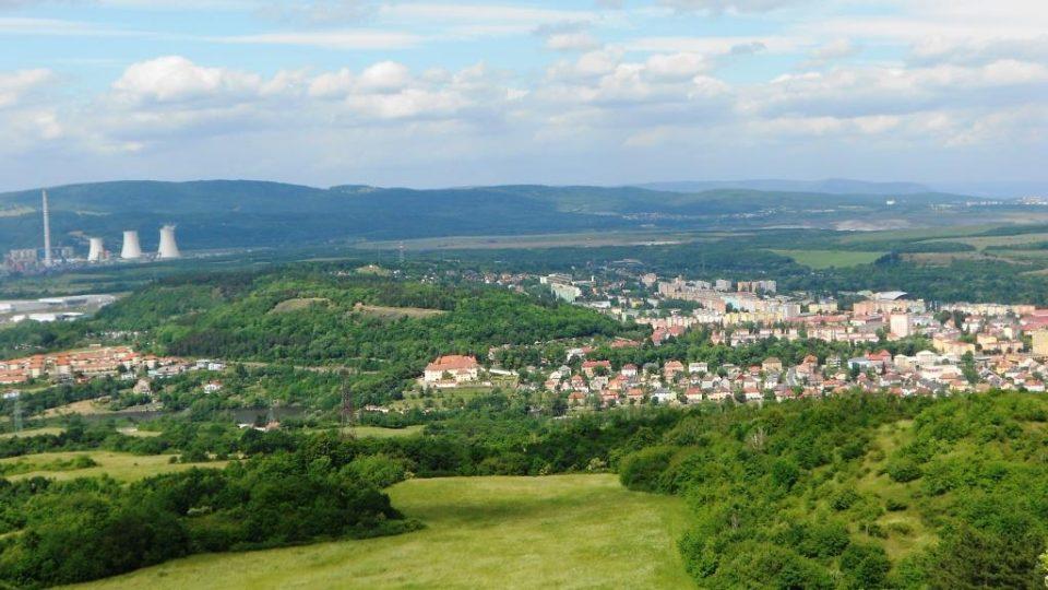 Pohled z vrcholu Úhoště