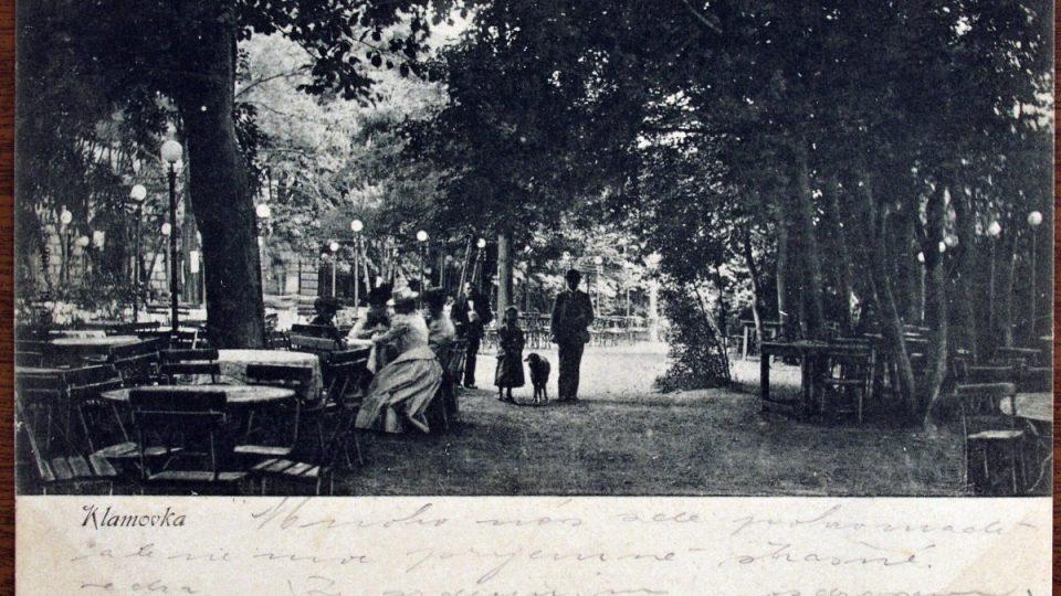 Klamovka okolo roku 1900 - ze soukromé sbírky Jana Vrabce