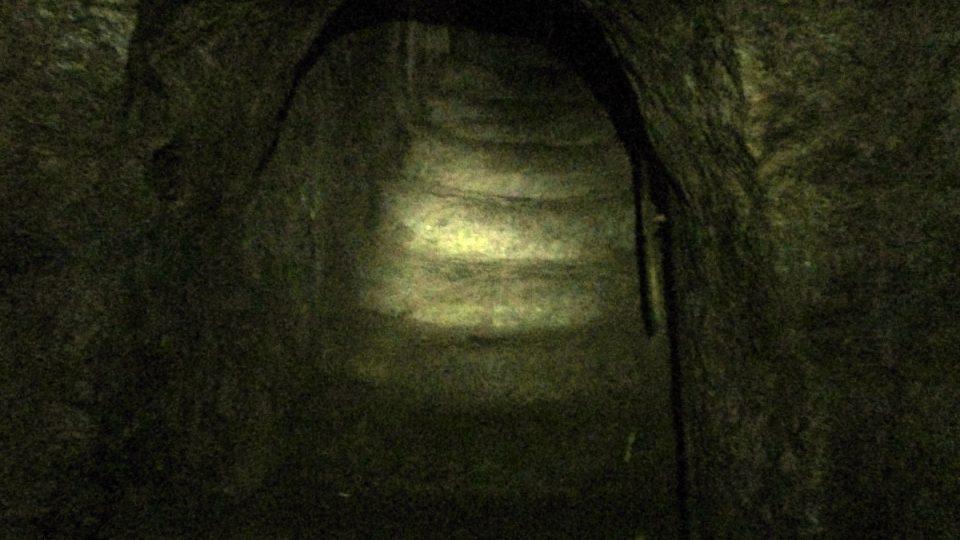 Původní středověké schody