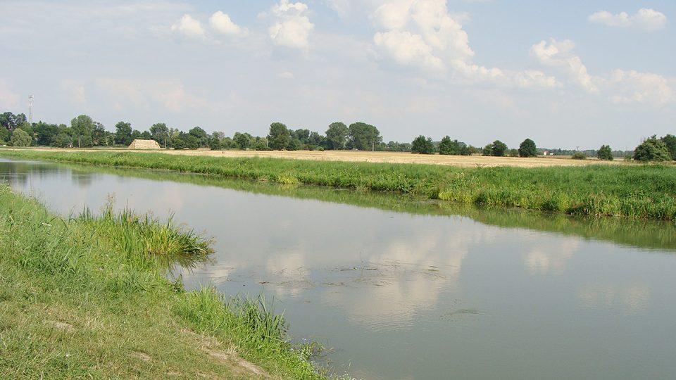 Řeka Loučná (Pardubice Počaply)