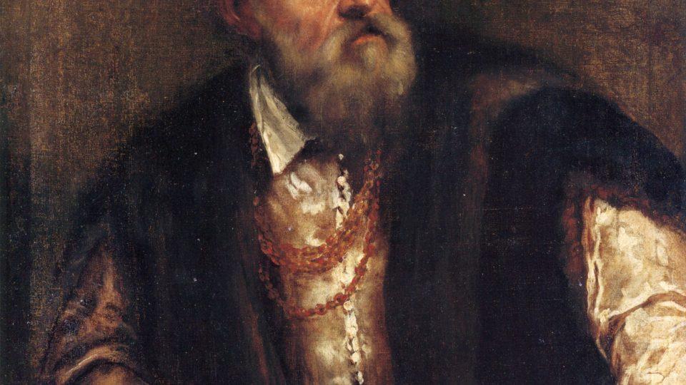 Tizian (1490–1576): Auroportrét, olej na plátně, mezi 1550-1562