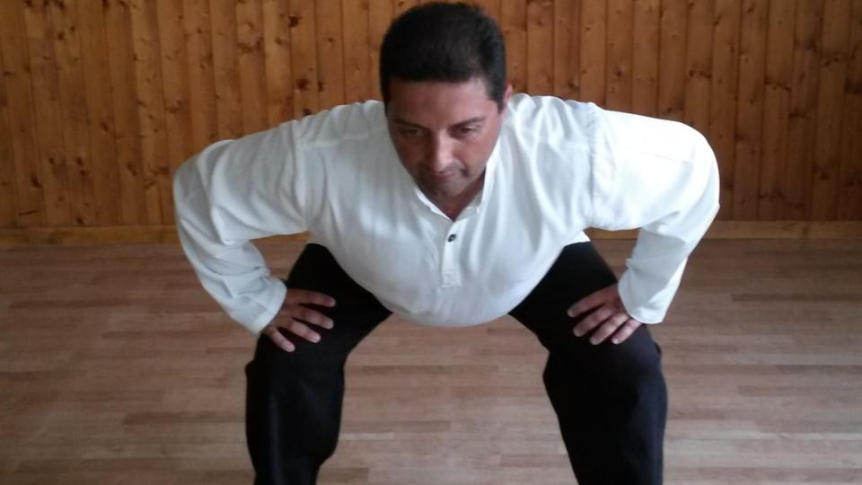 9. Postup pohybu směrem k levé noze
