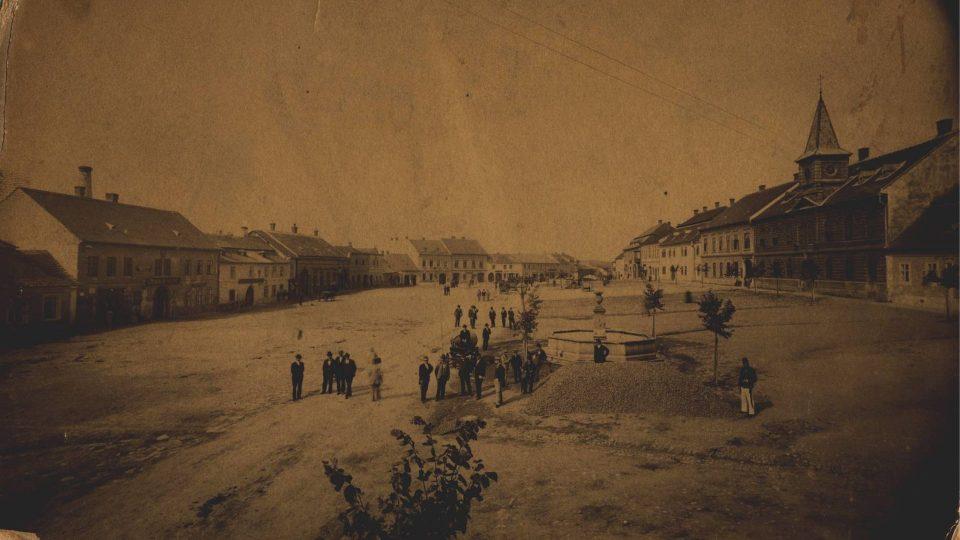 Masarykovo máměstí ve Velké Bíteši před rokem 1900