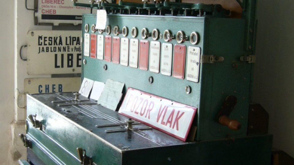 Expozice na nádraží v Jablonném v Podještědí