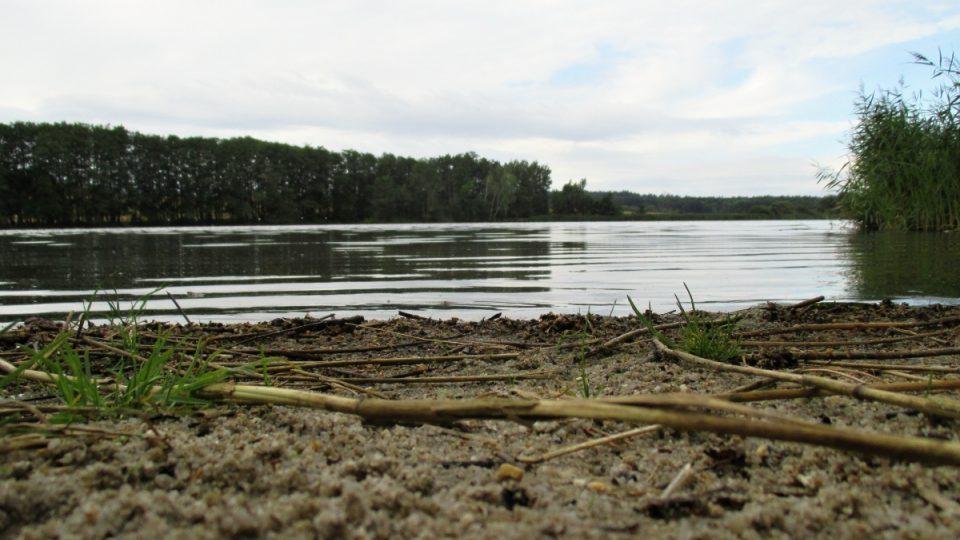 Pláž rekreační části rybníka Amerika