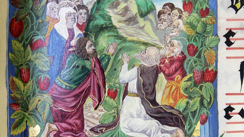 Gradual obsahuje sbírku liturgických mešních zpěvů