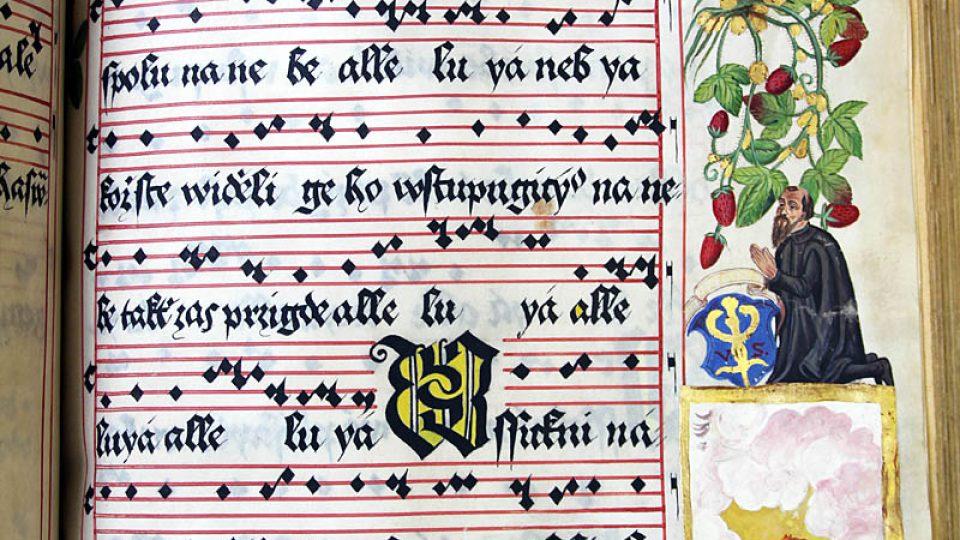 Písmo a notace zapsal Vavřinec Bílý