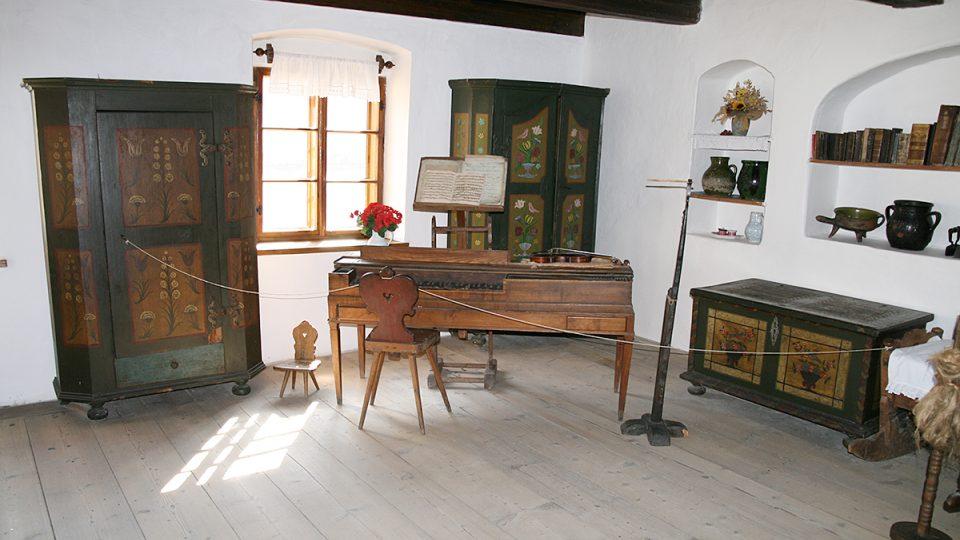 Světnice v rodném domě Františka Ladislava Heka