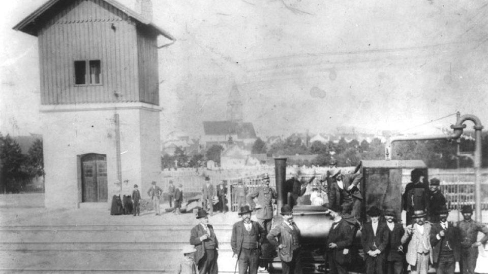 Vodárna Slavonice (z archivu města Telče)