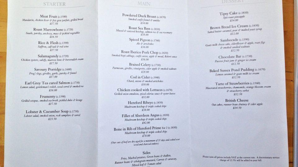 DINNER HESTON BLUMENTHAL - majitel Heston Blumenthal, vlastní Fat Duck - opakovaně nejlepší restauraci světa. Dinner je na 5. místě dle Pellegrina