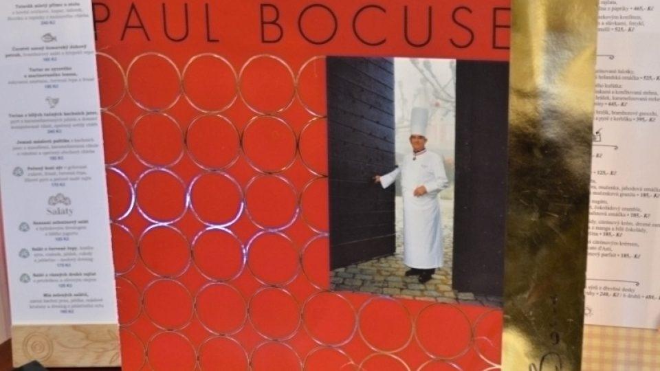 Jídelní lístek Paula Bocuse, držitele mnoha světových ocenění, mj. Šéfkuchař století