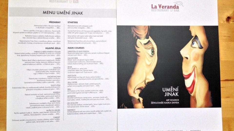 La Veranda - menu Umění jinak