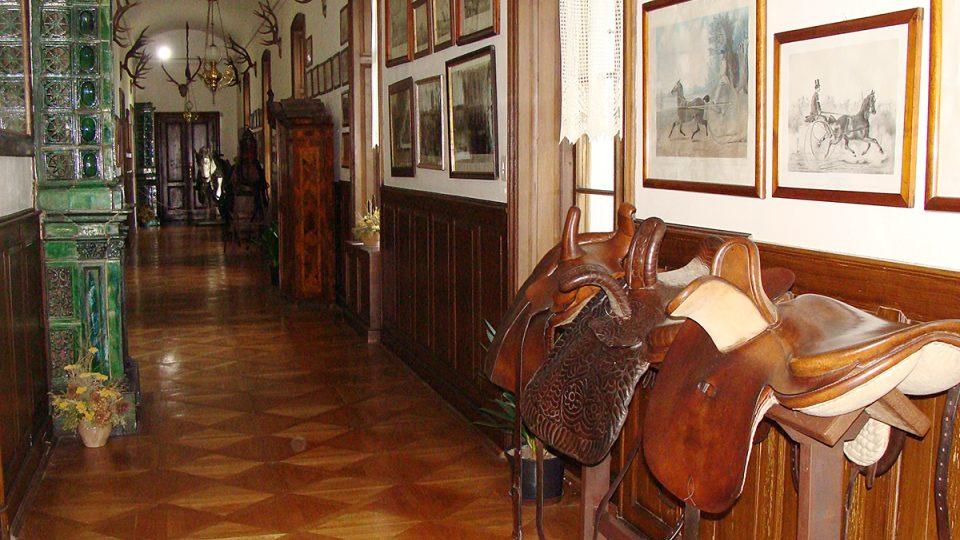 Interiér zámku Slatiňany