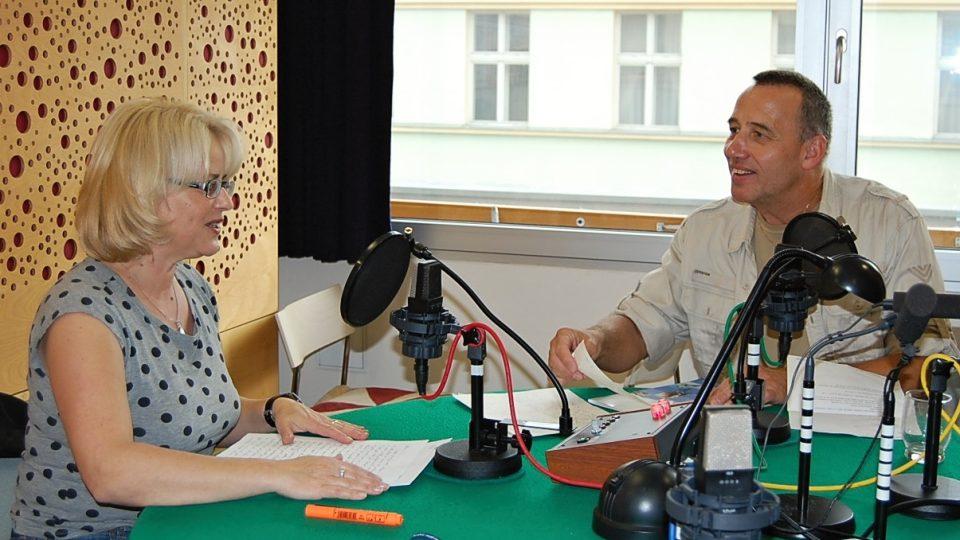 Redaktorka Ivana Denčevová se Slávou Volným synem