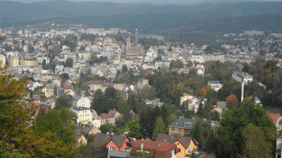 Výhled na Jablonec nad Nisou z Petřínu