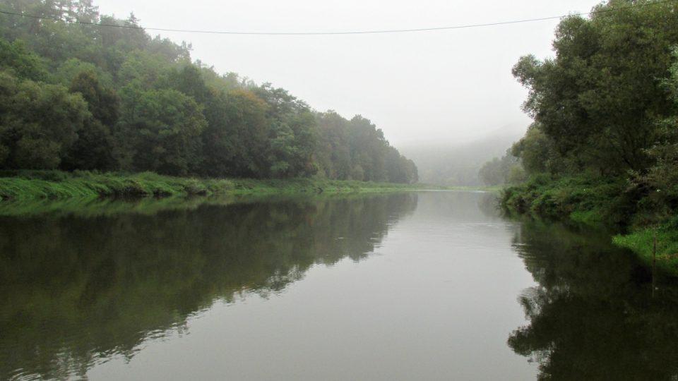 Podklidná řeka Berounka