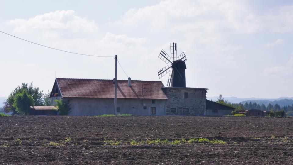Budova někdejšího větrného mlýna