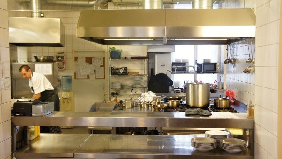 Kuchyně restaurace Katr