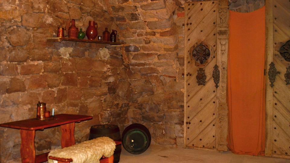 Interiér hradu Pecka
