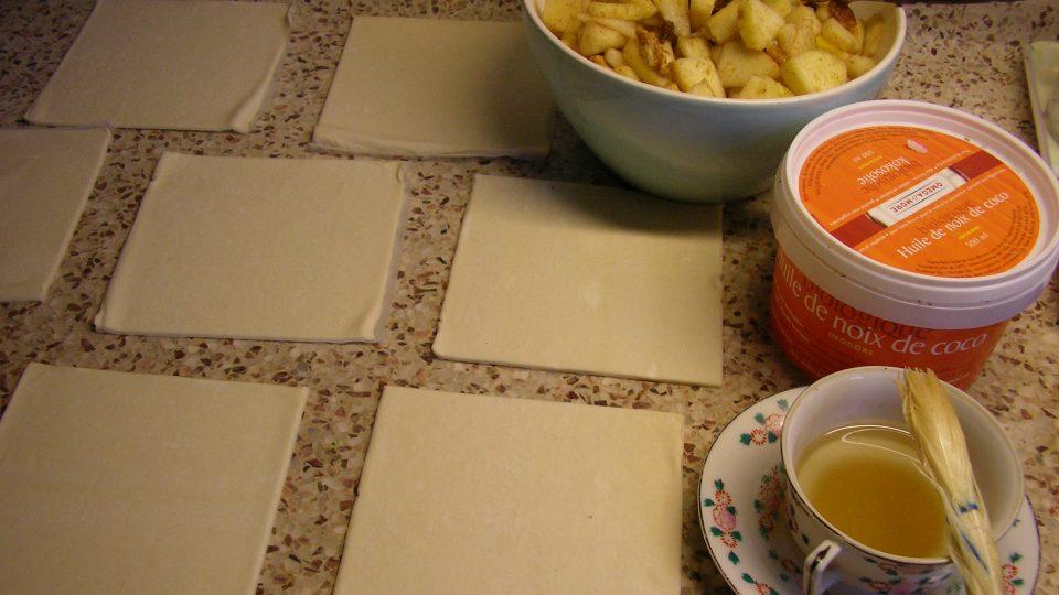 Jablečné šátečky z listového těsta