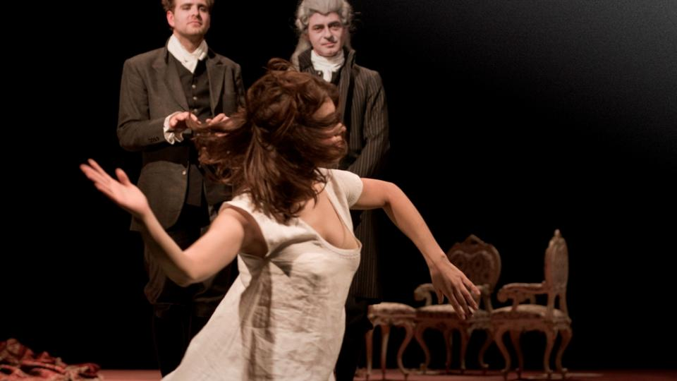 Ondřej Brousek jako Amadeus, Jiří Dvořák jako Salieri