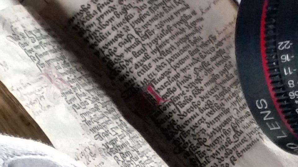 Před kamerou: Lobkovický rukopis