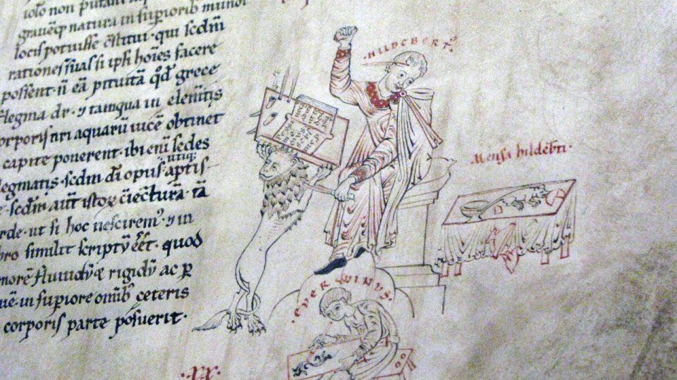 Z výstavy Otevři zahradu rajskou.Benediktini v srdci Evropy 800-1300 ve Valdštejnské jízdárně v Praze