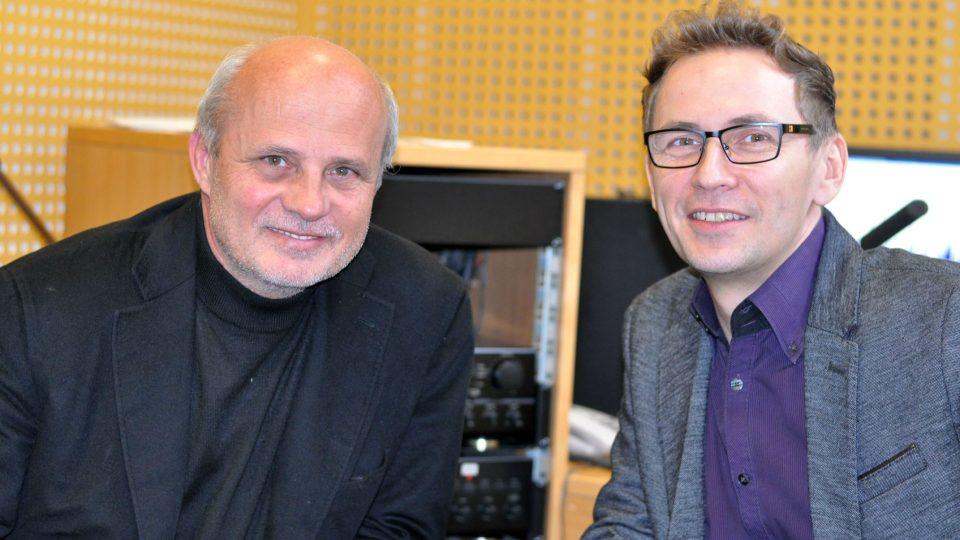 Michal Horáček a moderátor Petr Zajíček