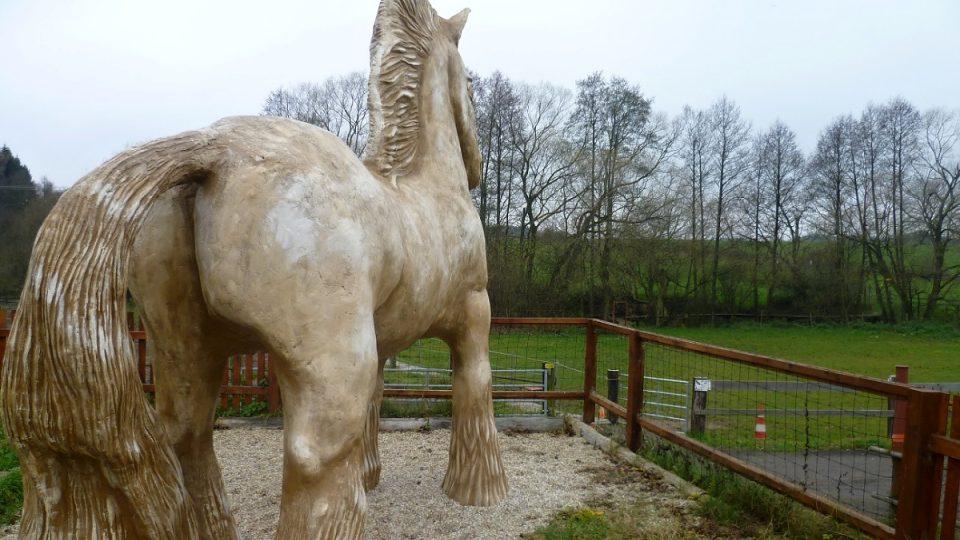 Socha koně od Michala Olšiaka