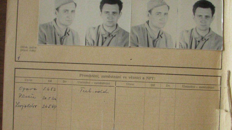Vězeňská podobenka Františka Suchého