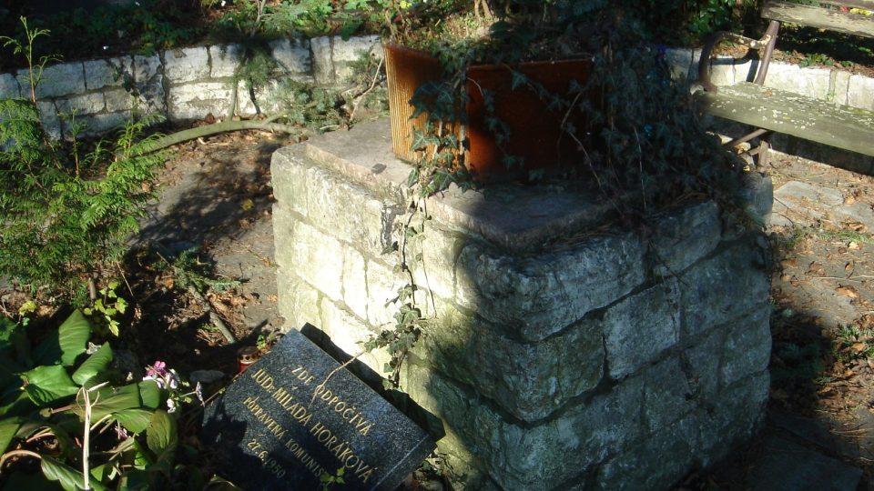 Oficiální hrobka Milady Horákové