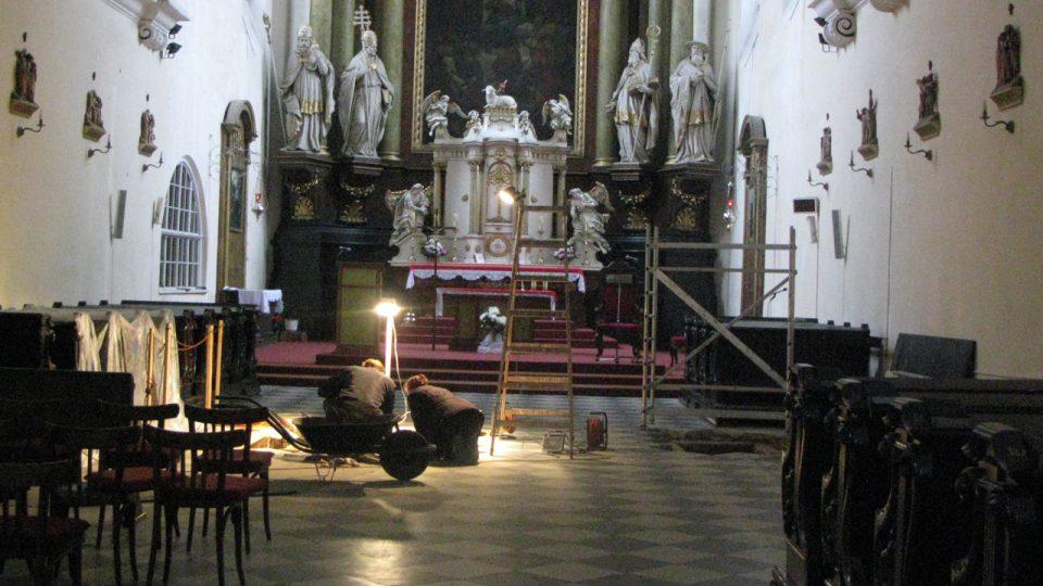 Archeologický výzkum v kostele sv. Ducha v Opavě