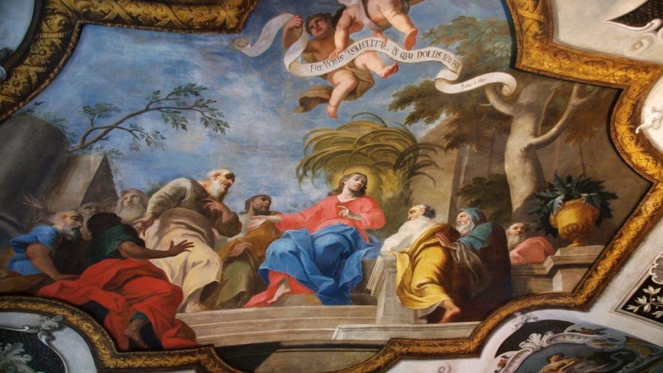 Handkeho malba v bývalé jídelně děkana