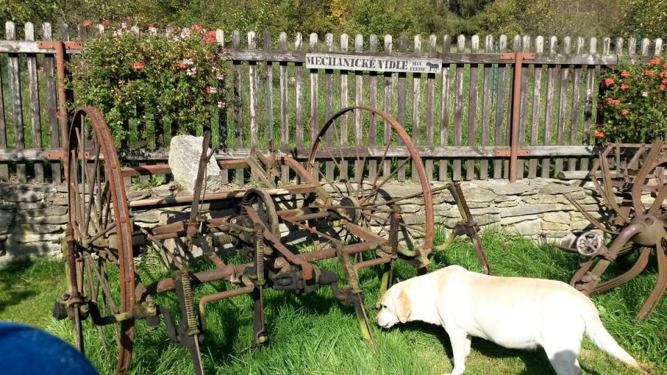 Vidlákova zahrada s mechanickými vidlemi