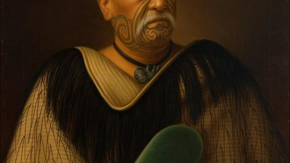 Obraz Gottfrieda Lindauera: Wahanui Reihana Te Huatare