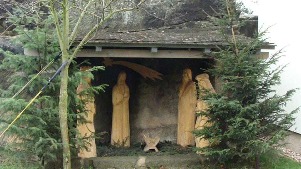 Betlém u kostela Boží lásky v Budislavi