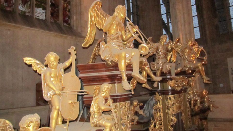 Varhany v chrámu svaté Barbory v Kutné Hoře