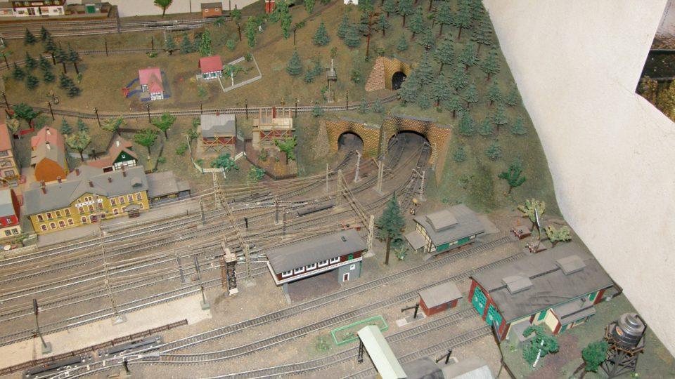 Model železnice Jiřího Daňka z Bruntálu