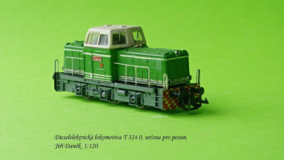 Železniční modely v měřítku 1:120 vyrobené modelářem Jiřím Daňkem z Bruntálu