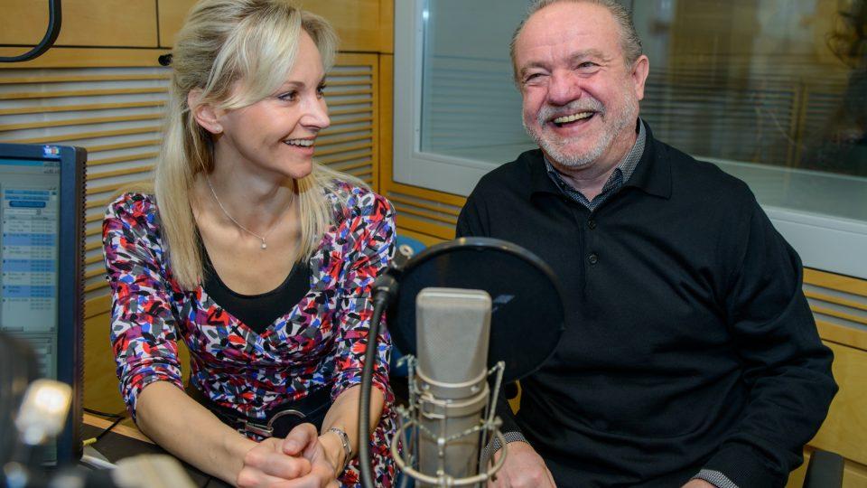 Martin Klásek se při natáčení pořadu s Jitkou Novotnou evidentně bavil