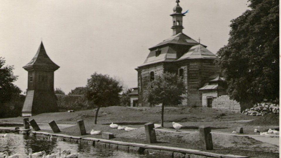 Kostel Loučená Hora - historický snímek