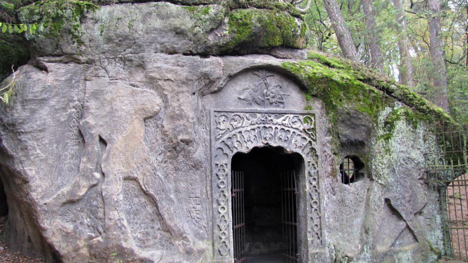 Vchod do jeskyně Klácelka