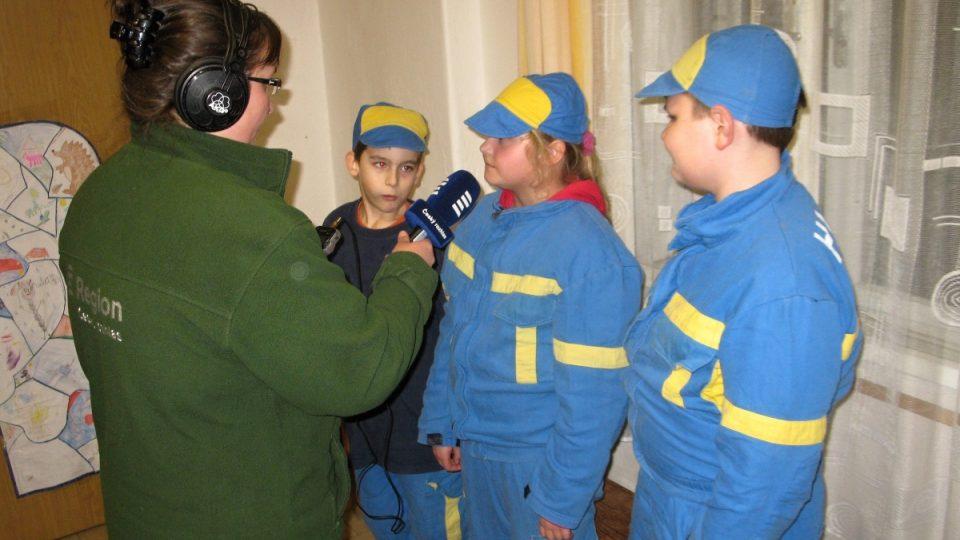Natáčení s malými hasiči