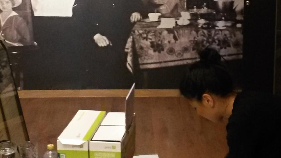 Přípravy na výstavu o Arnoštu Hrabalovi