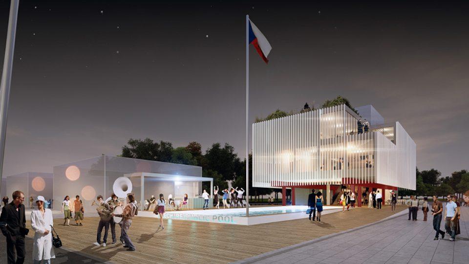 Vizualizace pavilonu České republiky pro EXPO 2015