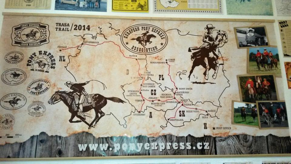 Trasa Pony Expressu v roce 2014