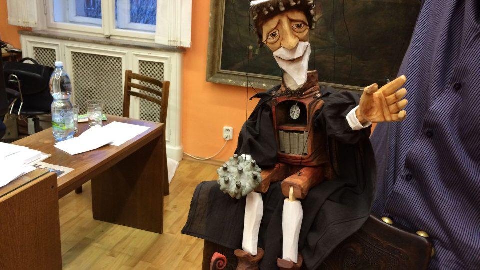 Maskot Severočeské vědecké knihovny v Ústí nad Labem
