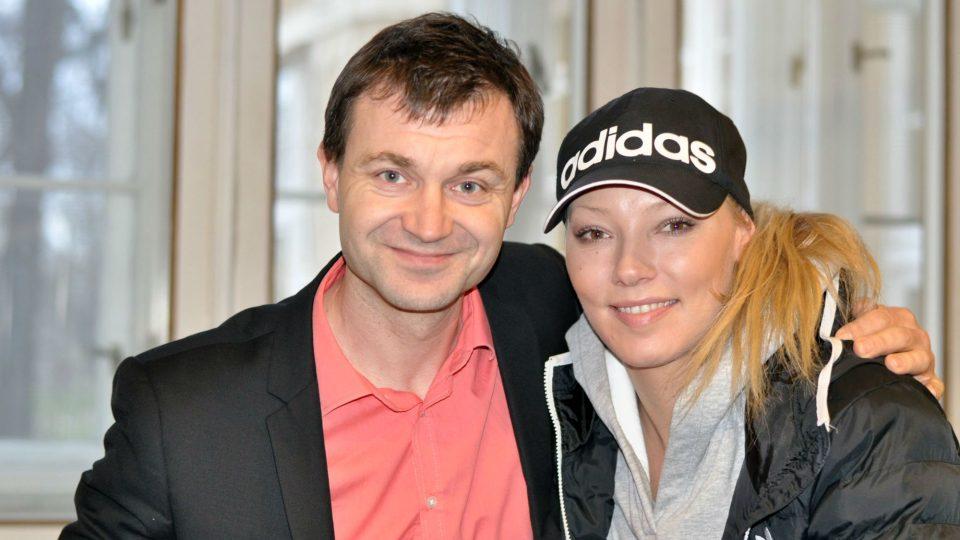 Oldřich Burda a zpěvačka Helena Zeťová