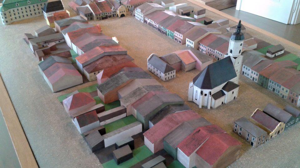Detail historického modelu náměstí