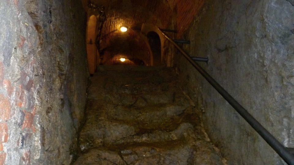 Schodiště v jihlavském podzemí